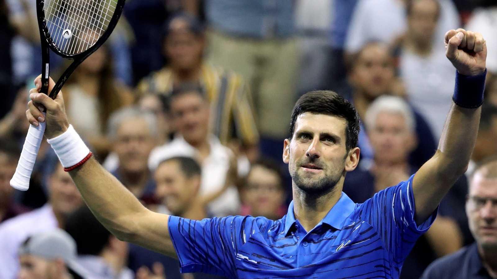 Imagen de archivo del tenista serbio, Novak Djokovic en el pasado US Open