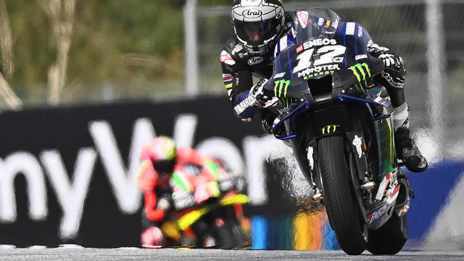 Viñales durante un entrenamiento este sábado en el circuito Red Bull de Spielberg (Austria)