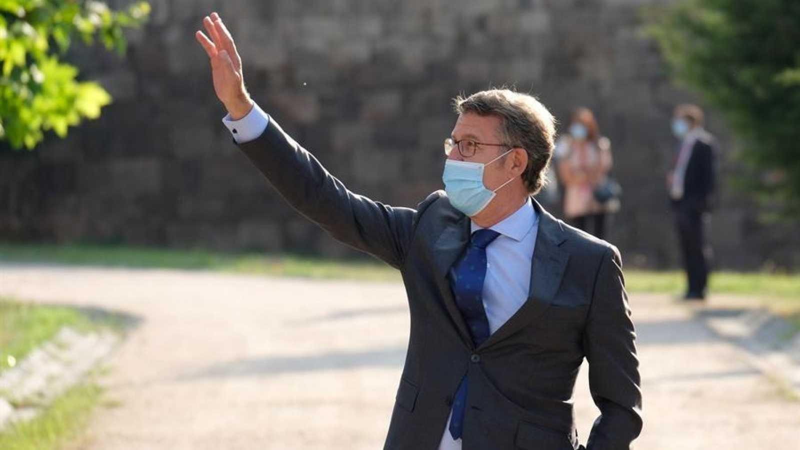 El presidente de la Xunta de Galicia, Alberto núñez Feijoo, a su llegada a la última Conferencia de Presidentes