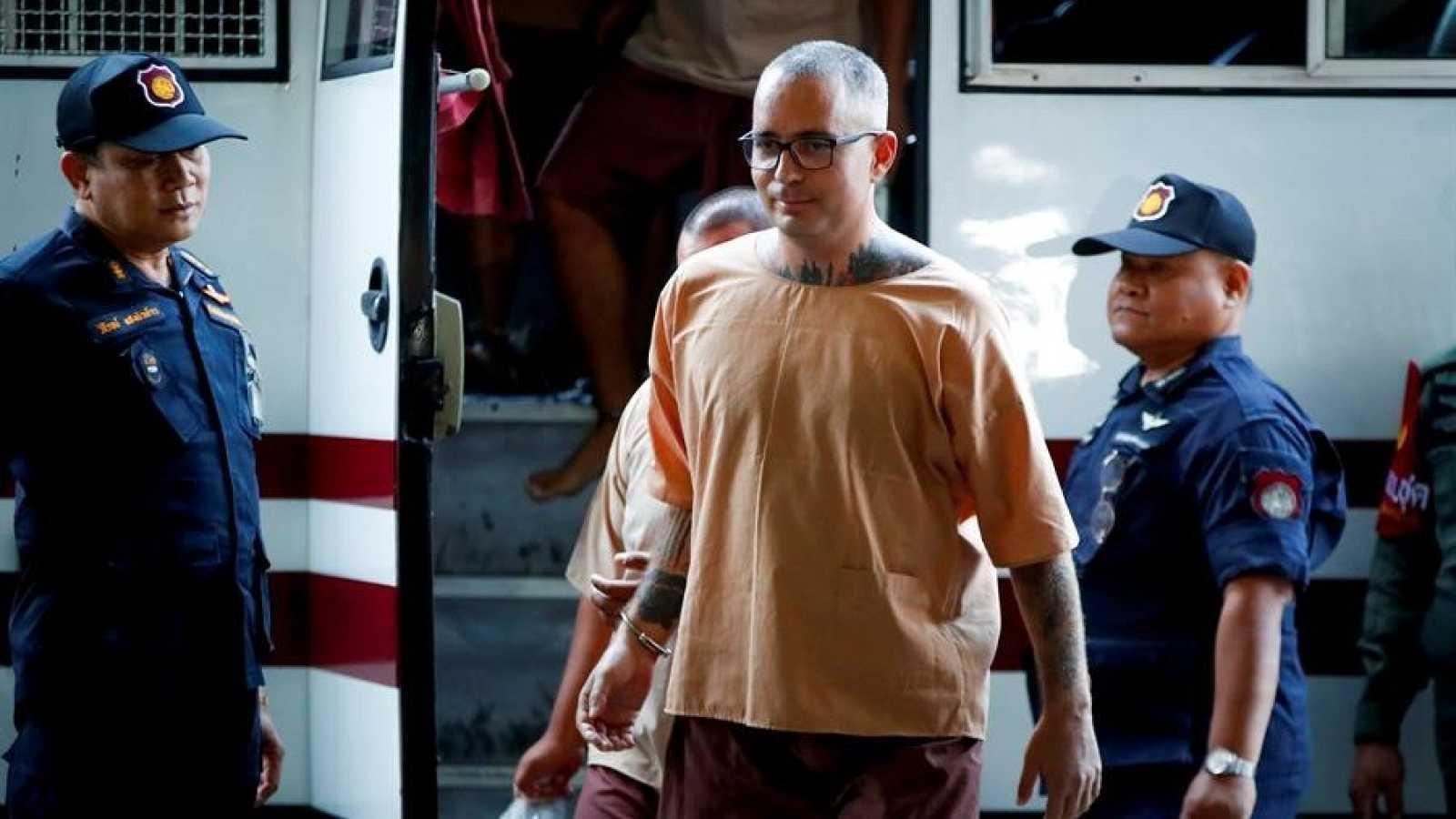 Artur Segarra a su llegada al Tribunal de Bangkok en 2019