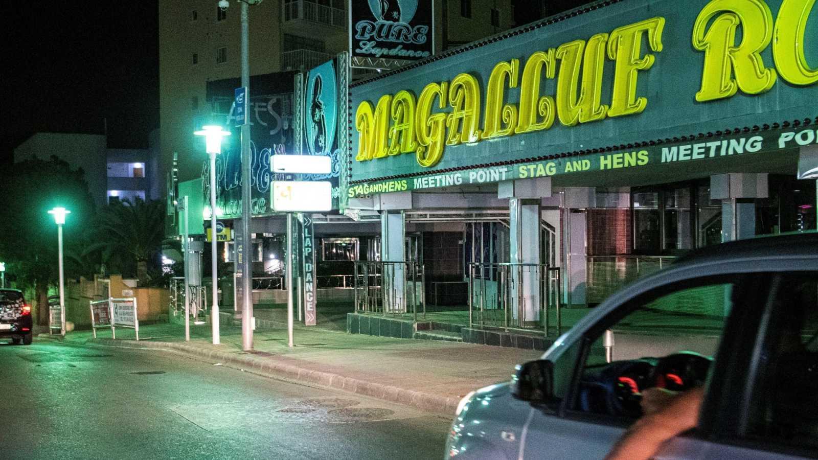 Aspecto de locales nocturnos cerrados en Mallorca