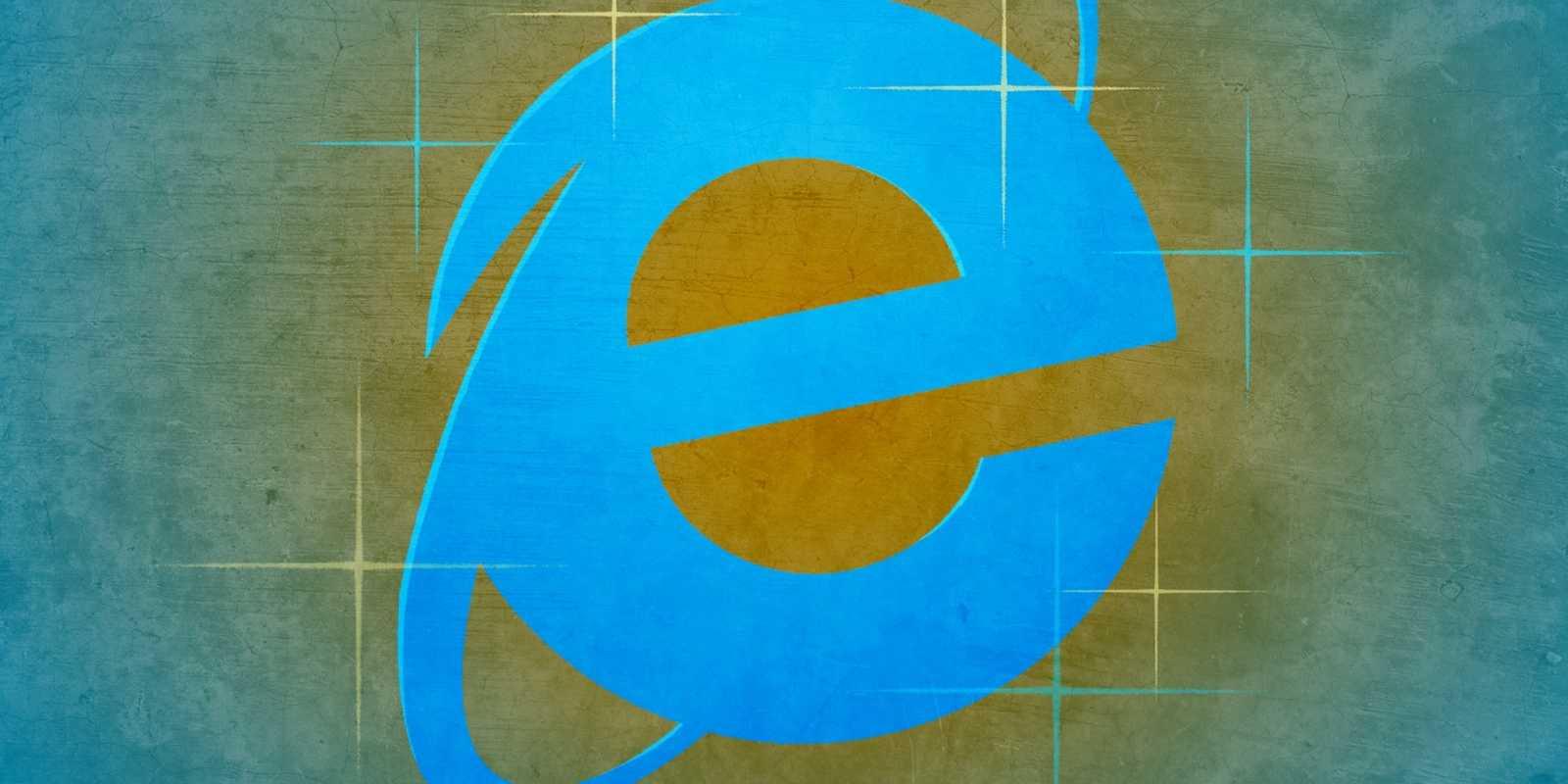 Logotipo del navegador Internet Explorer, propiedad de Microsoft.