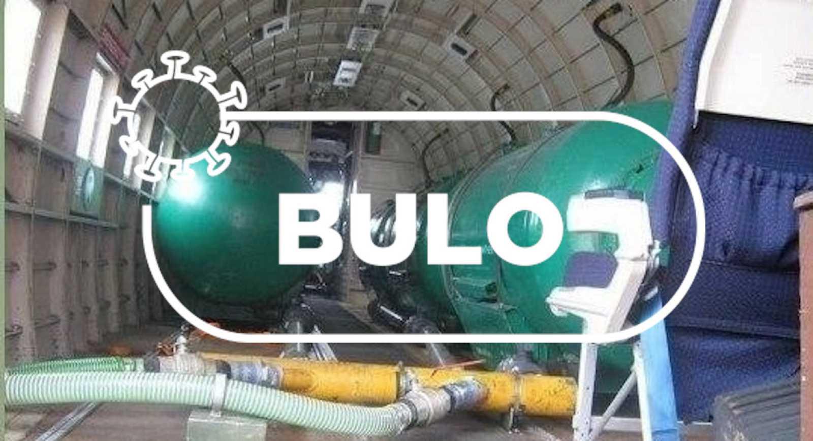 """Detalle de la foto central del mosaico compartido por los conspiranoicos con el sello de Verifica RTVE y la palabra """"bulo"""""""