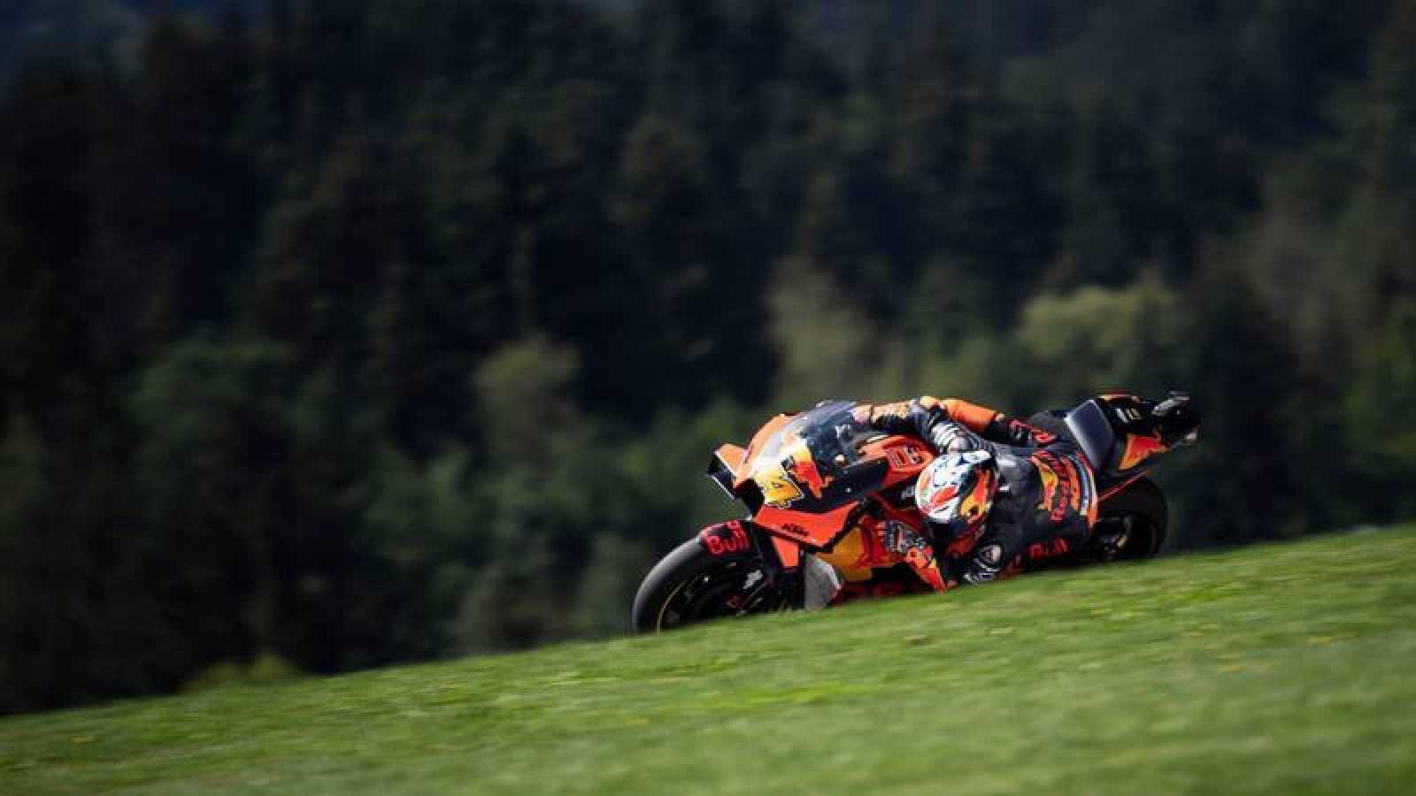 El piloto español de KTM, Pol Espargaró durante el GP de Estiria del Mundial de MotoGP.