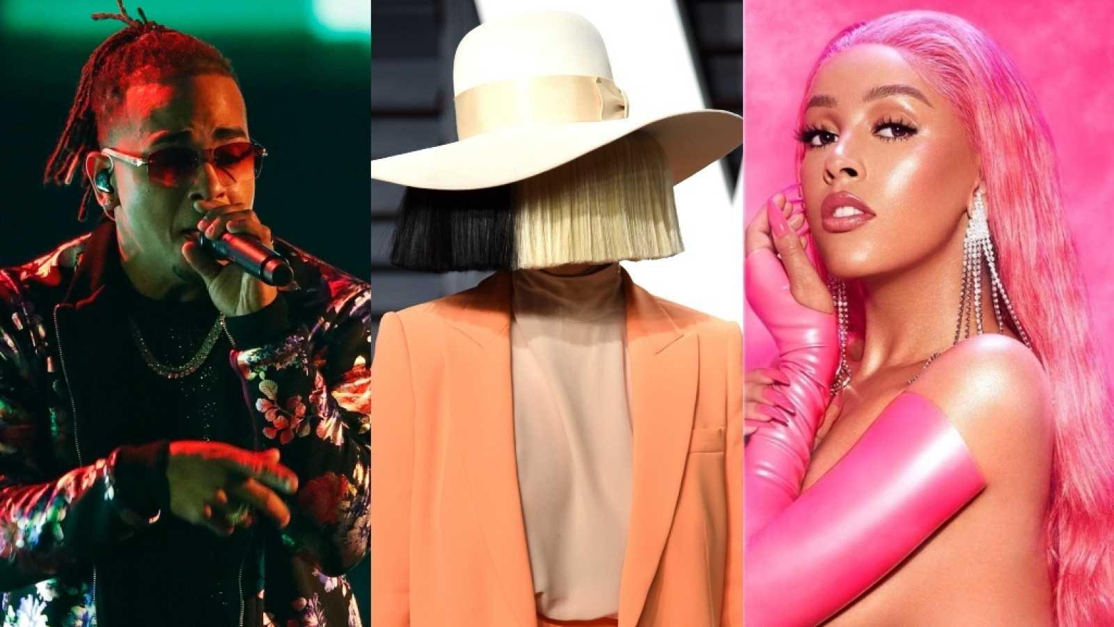 Sia anuncia colaboración junto a Ozuna y Doja Cat