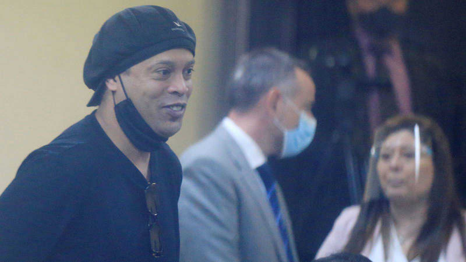 Ronaldinho, durante la vista sobre su puesta en libertad.