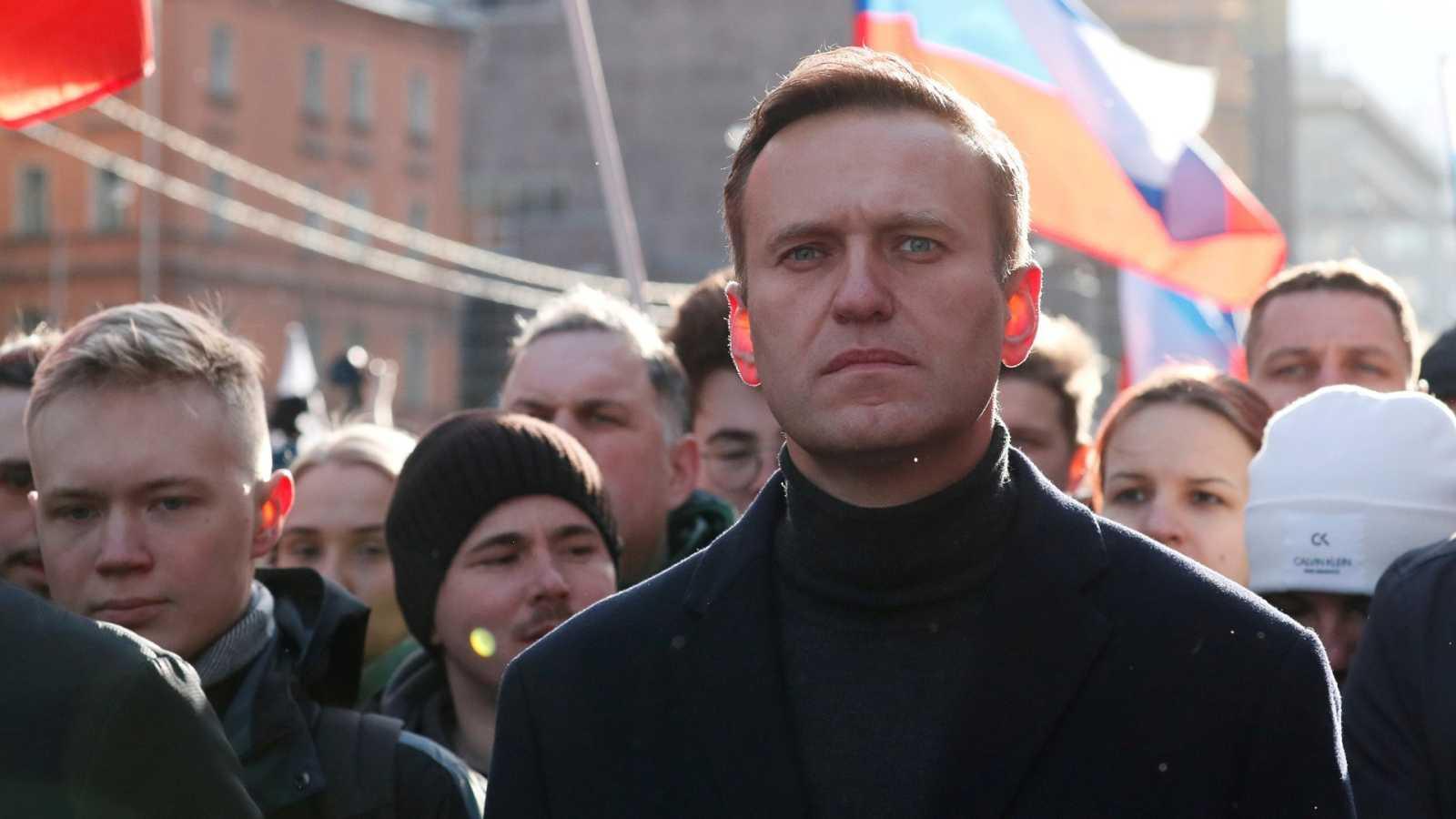 El líder opositor ruso, Alexei Navalny, en un acto en Moscú en febrero