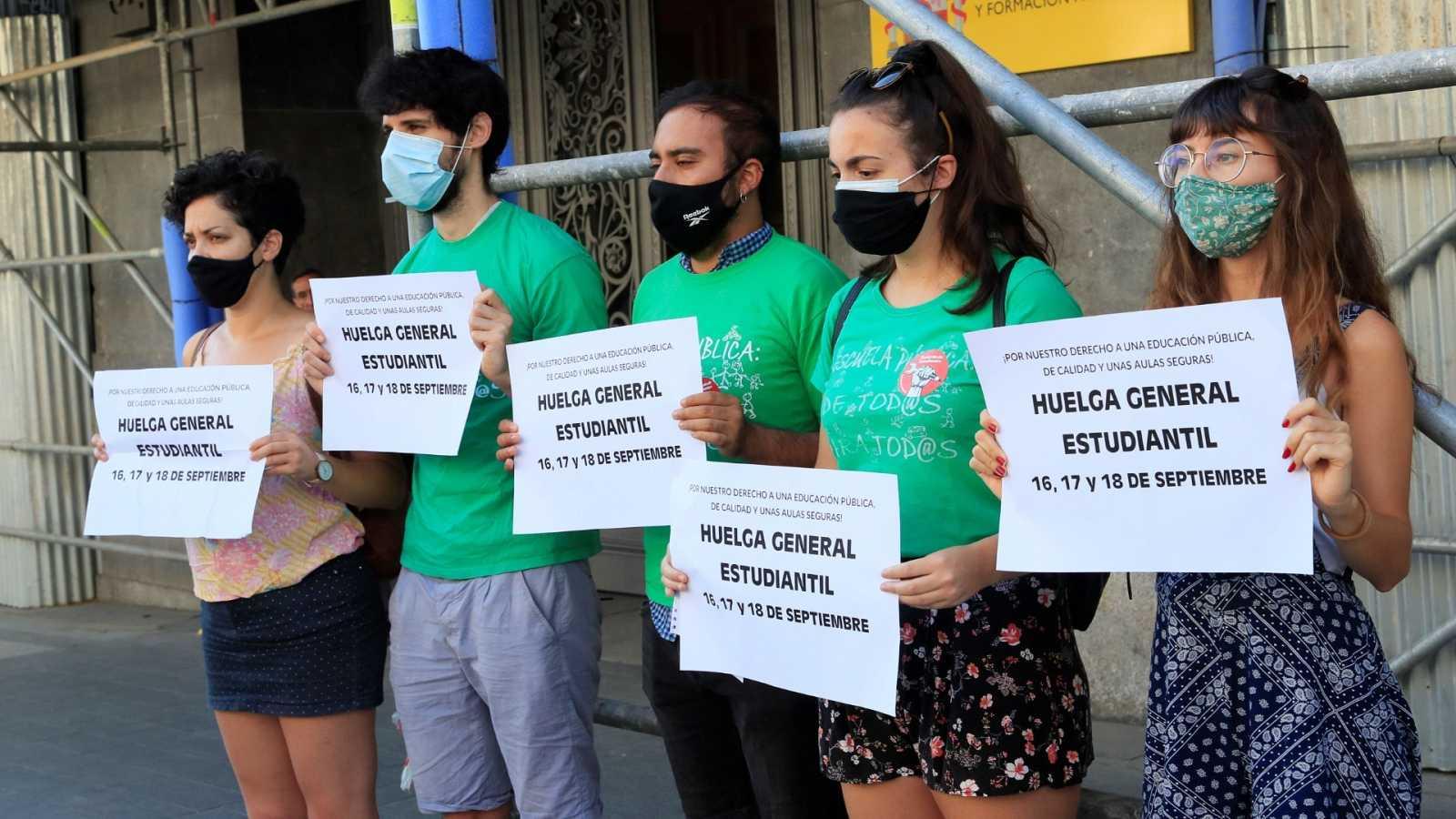 El Sindicato de Estudiantes anuncia una huelga en toda España en protesta por las condiciones de la vuelta al cole