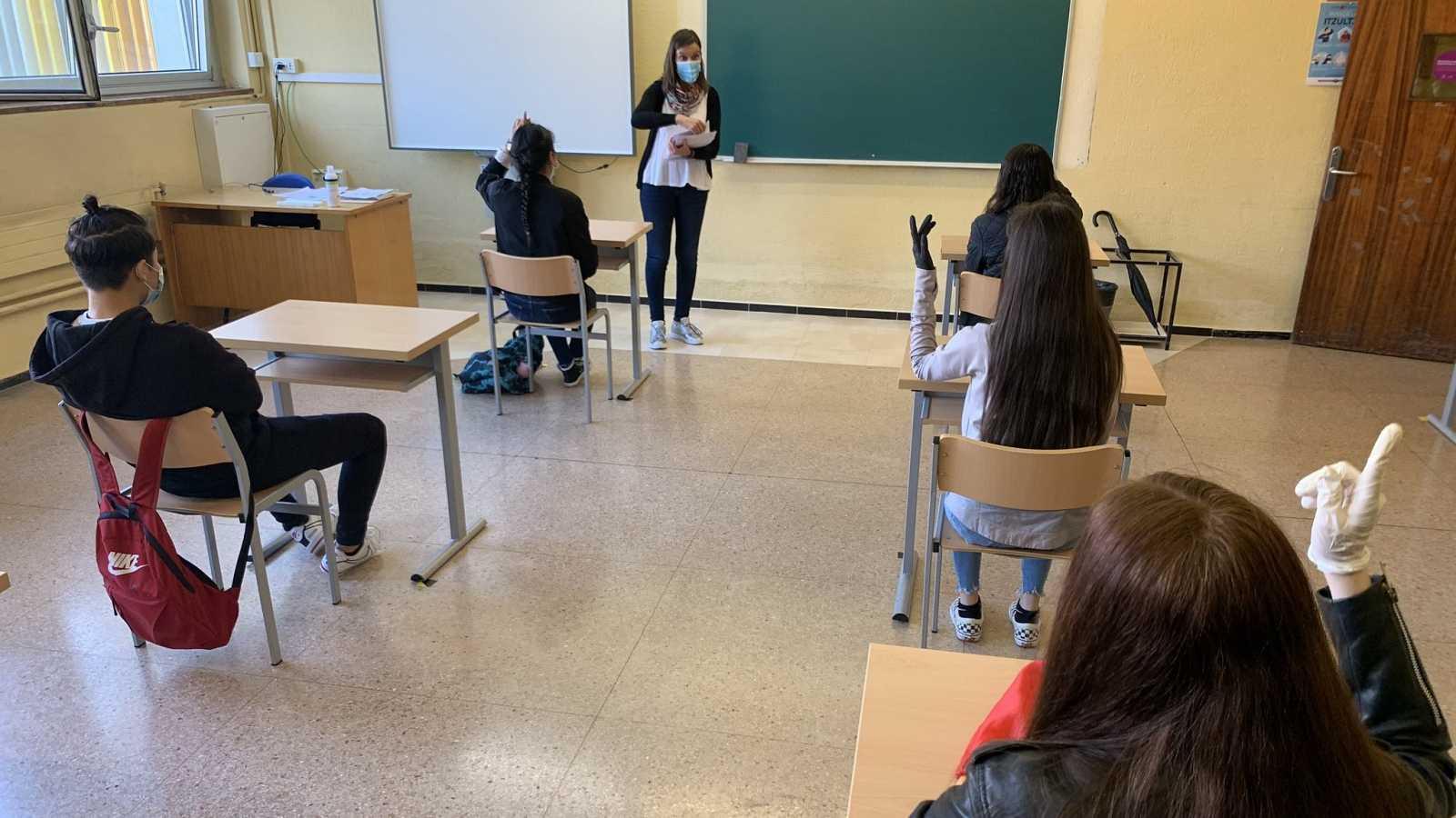 Clase con alumnos