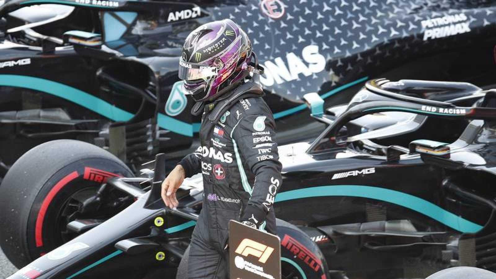 Imagen del piloto británico Lewis Hamilton durante el GP de España de Fórmula 1.