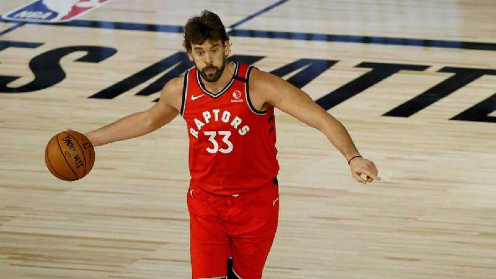 Imagen de Marc Gasol durante un partido de la NBA.