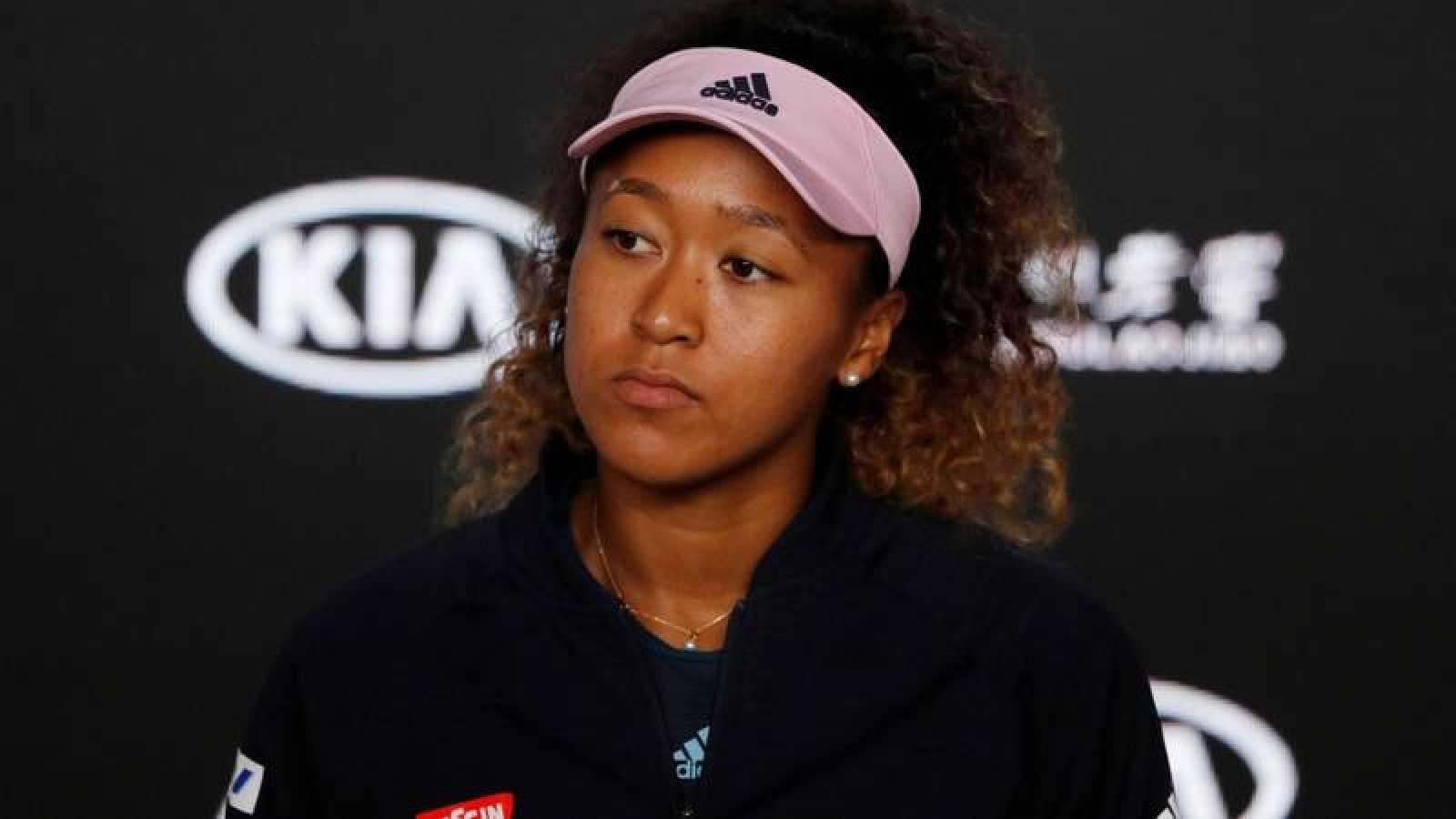 Imagen de la tenista japonesa Naomi Osaka durante una rueda de prensa.