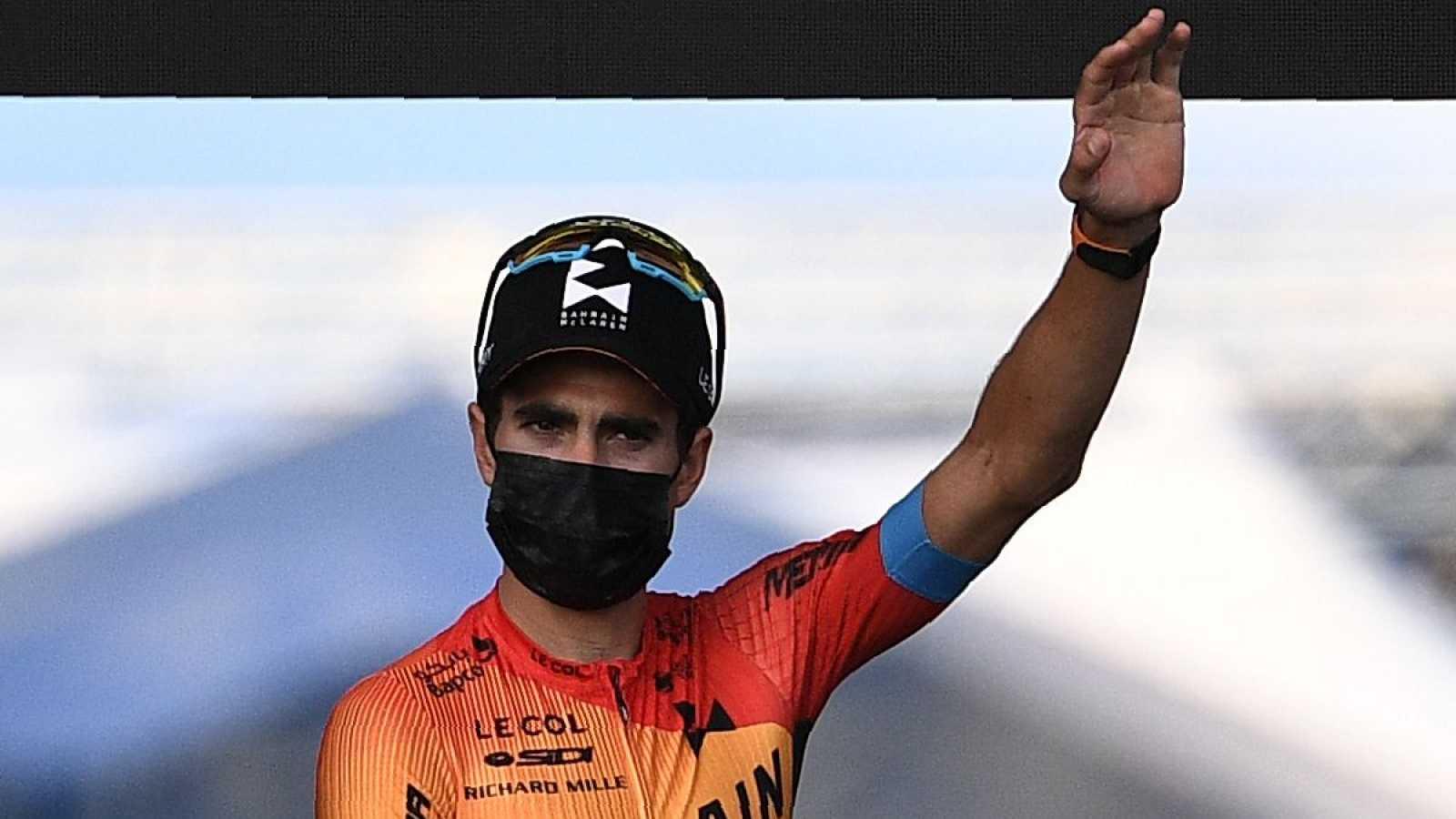 Imagen: Mikel Landa, en la presentación del Tour 2020