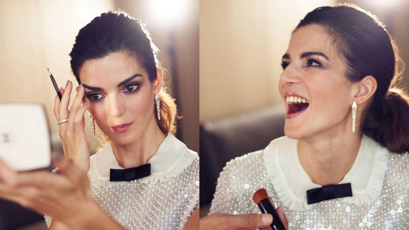 Clara Lago comparte unas fotos inéditas del 'making off' de su look