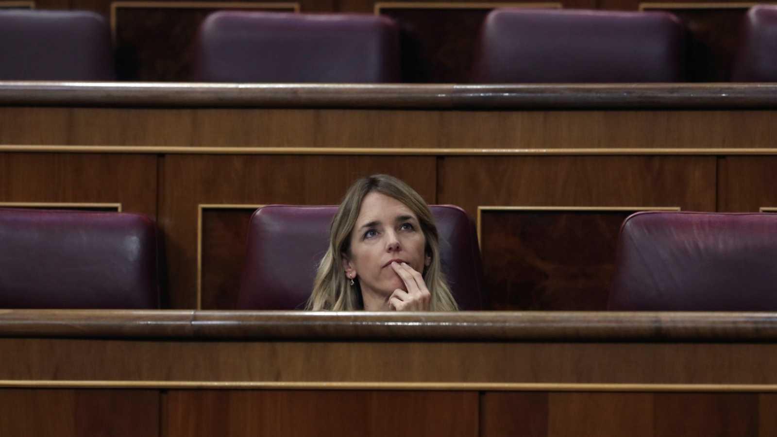 La exportavoz parlamentaria del PP, Cayetana Álvarez de Toledo, en su escaño en el Congreso de los Diputados.