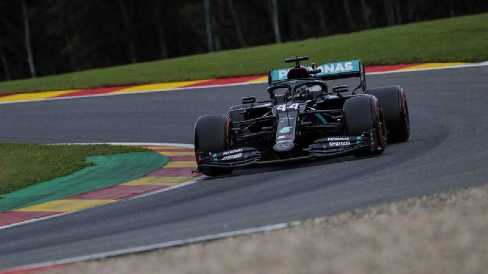 El piloto británico Lewis Hamilton durante el GP de Bélgica de Fórmula 1.