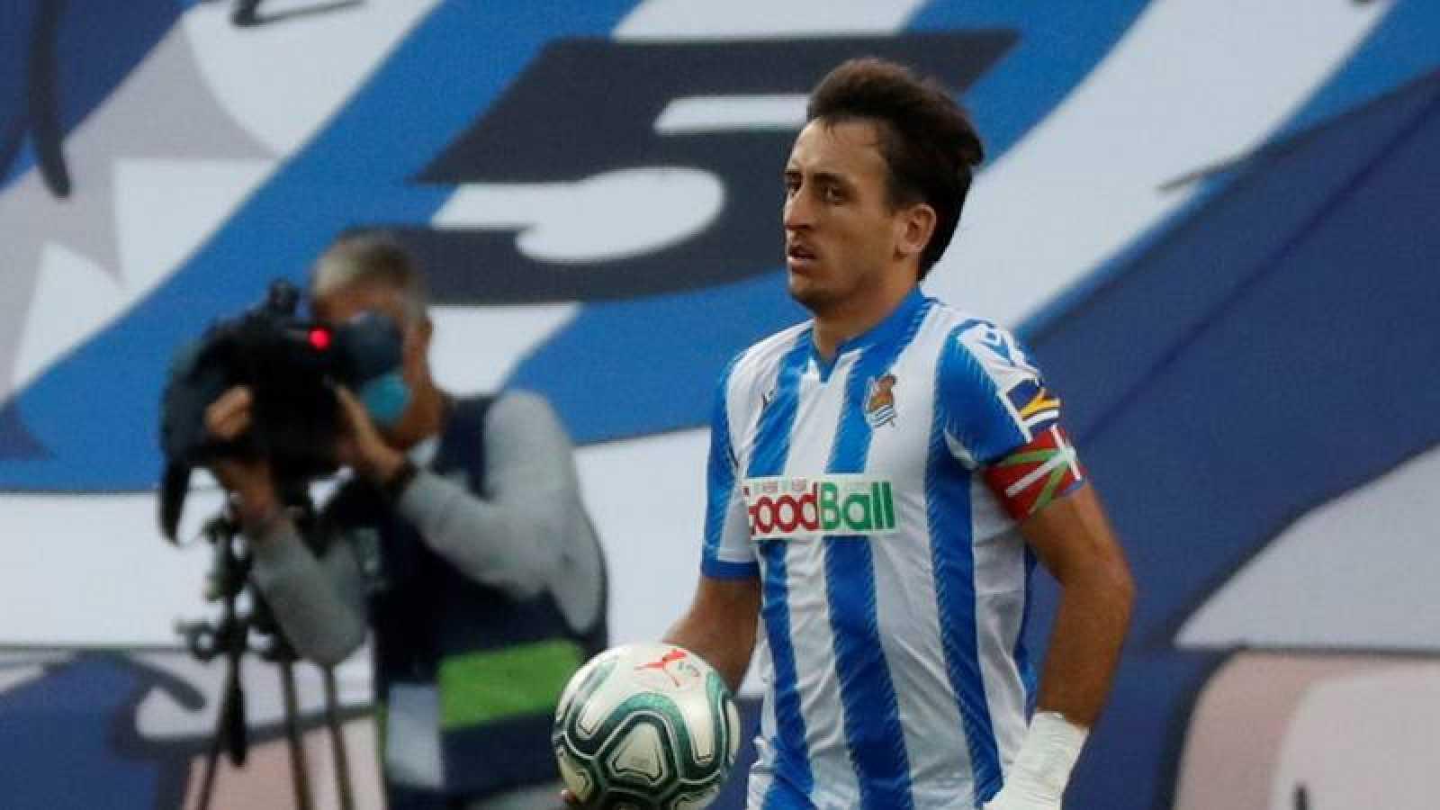 Imagen de archivo del futbolista de la Real Sociedad Mikel Oyarzábal.