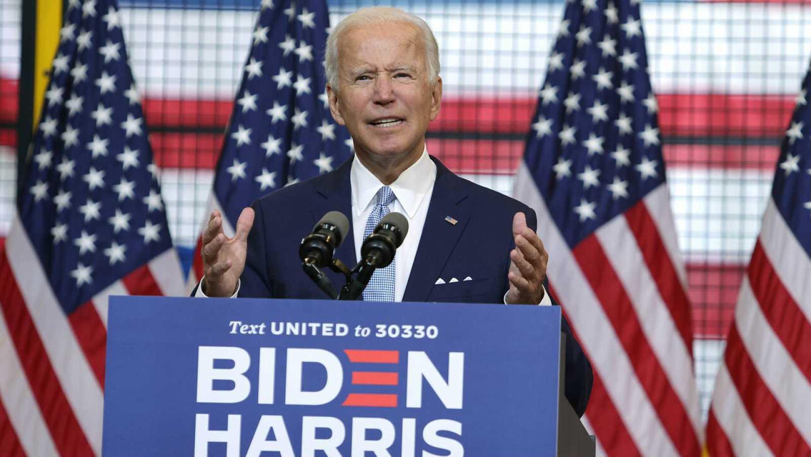 El exvicepresidente del candidato presidencial demócrata, Joe Biden, habla durante un evento de campaña en Mill, en Pittsburgh, Pennsylvania /EE.UU.).