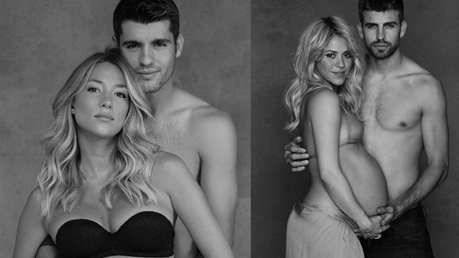 Famosas embarazadas: Alice Campello y Álvaro Morata posan al estilo Shakira y Piqué