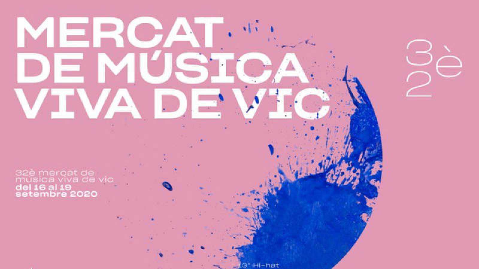 Cartel de la 32ª edición del Mercat de Música Viva de Vic