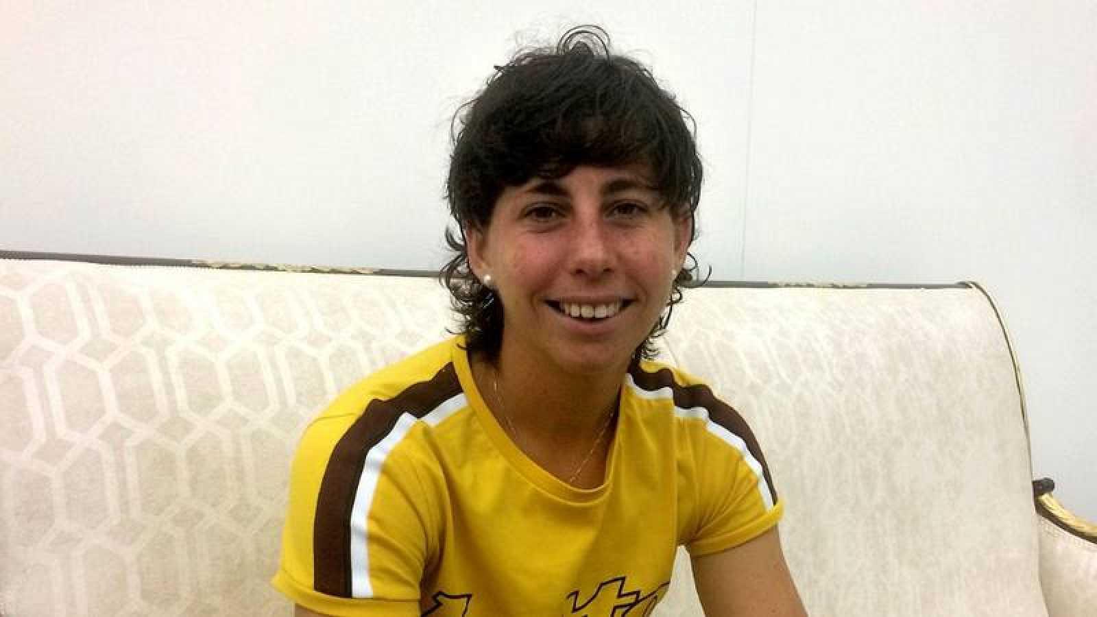 Imagen de archivo de la tenista Carla Suárez.