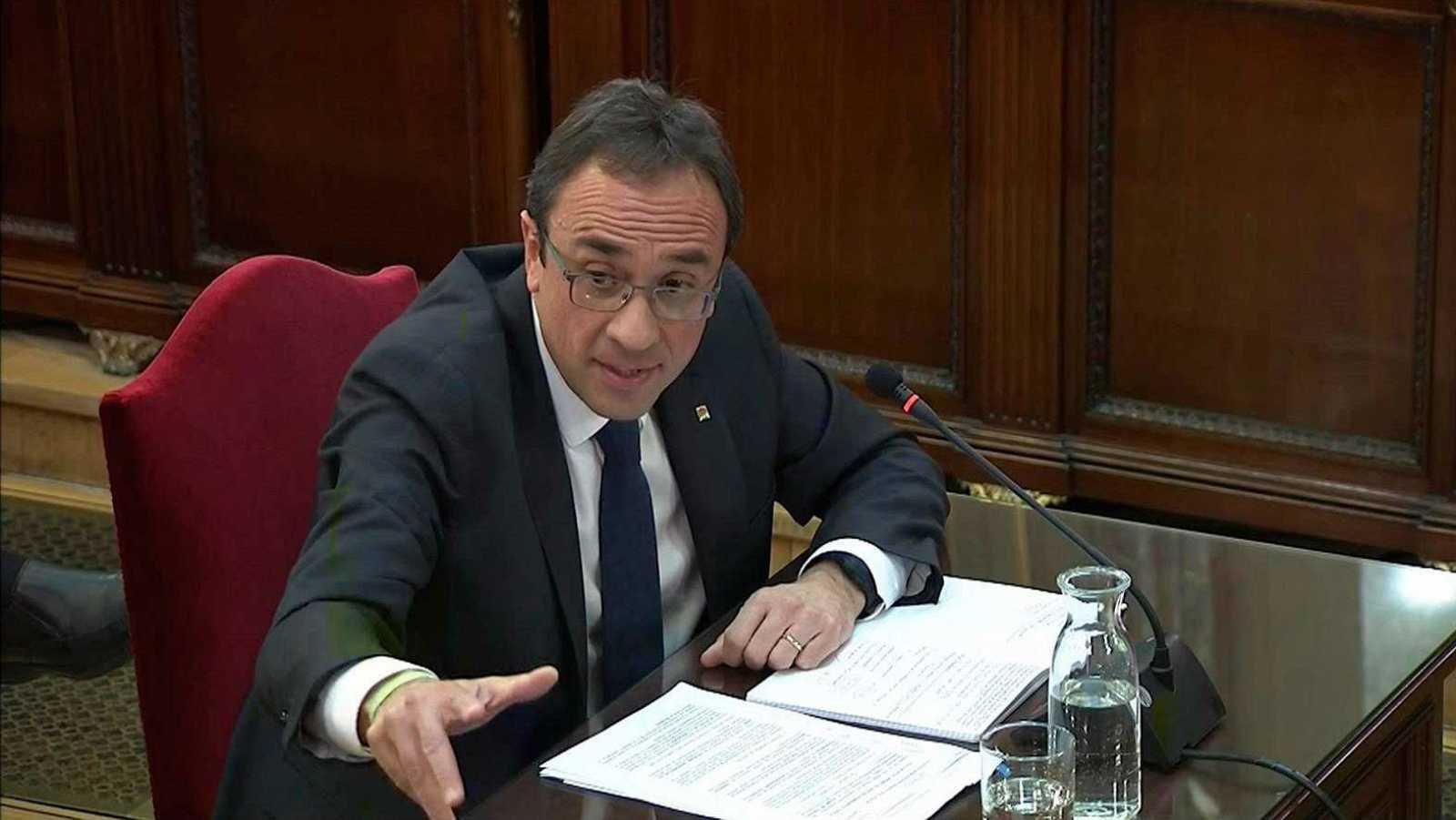 Josep Rull durante su declaración en el juicio por el referéndum ilegal del 1 de octubre (1-O).