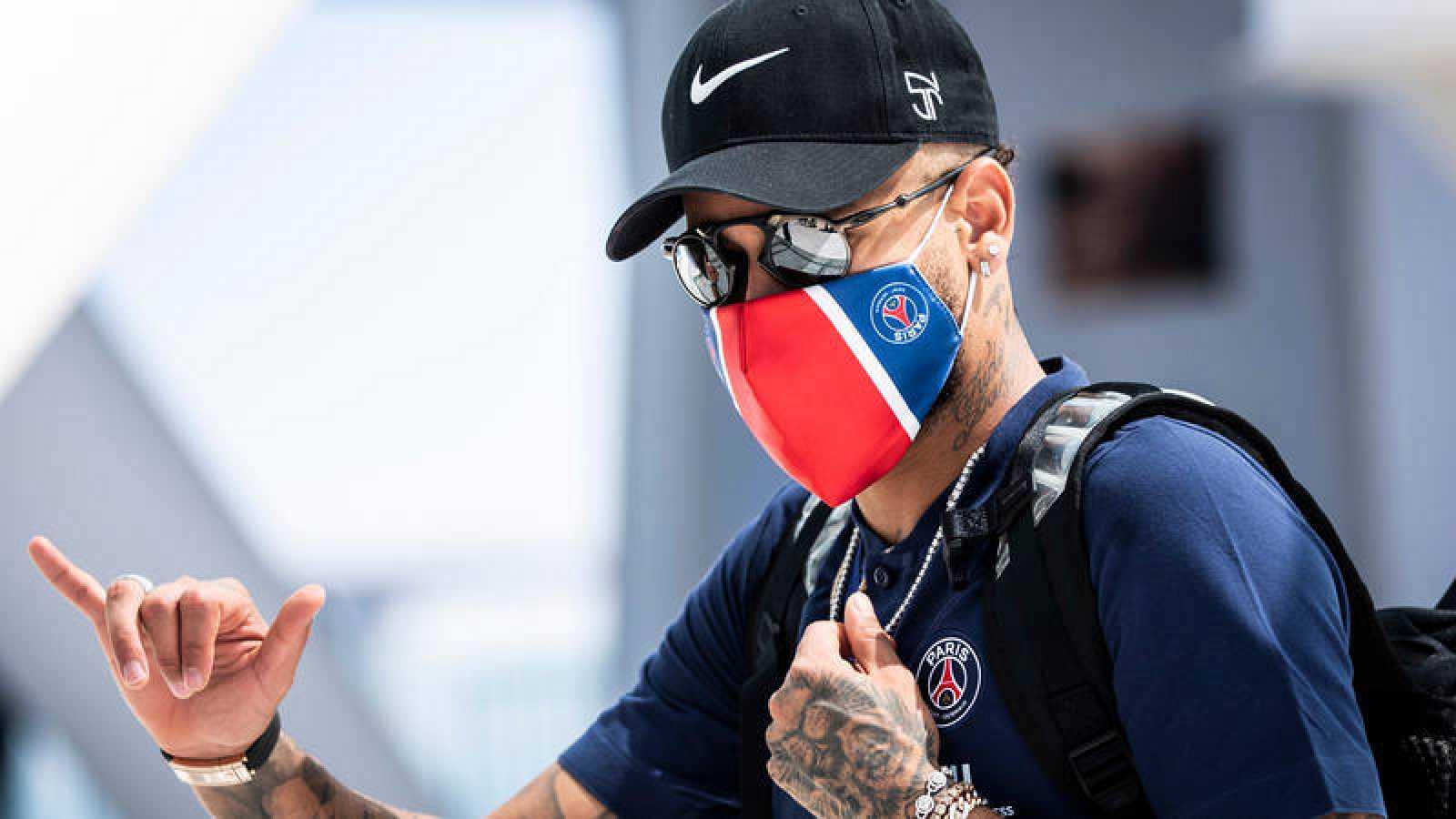 Imagen del jugador del PSG Neymar durante la pasada Final de la Champions disputada en Lisboa.