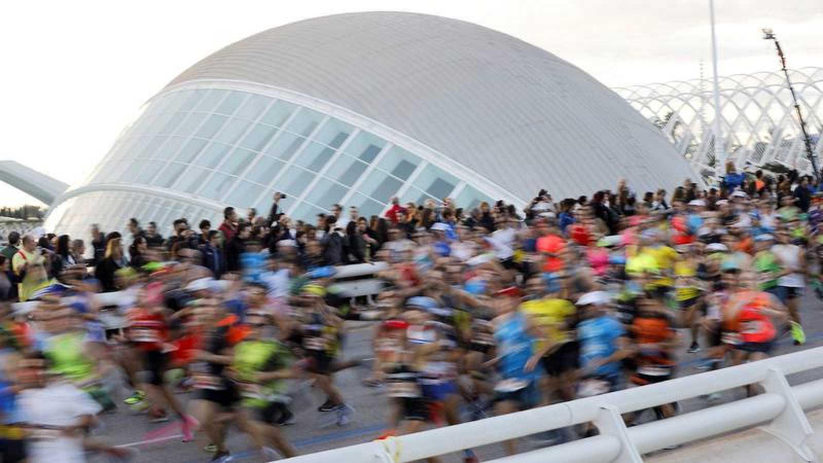 Imagen de la pasada edición del Maratón de Valencia.