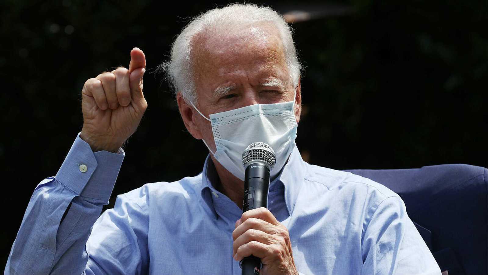 El candidato presidencial demócrata, Joe Biden, durante un acto de campaña en Lancaster, Pennsylvania.