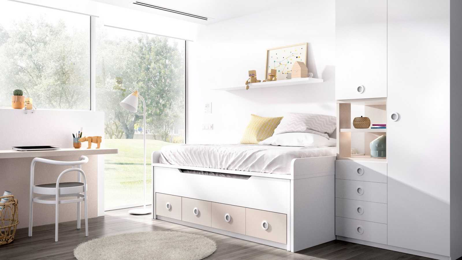 Es importante saber aprovechar bien los espacios del dormitorio para poder crear ese refugio que neceitan los más pequeños