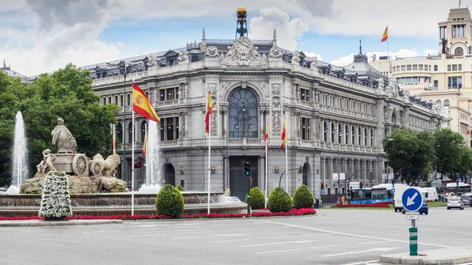 La fachada del Banco de España, en la plaza de CIbeles de Madrid
