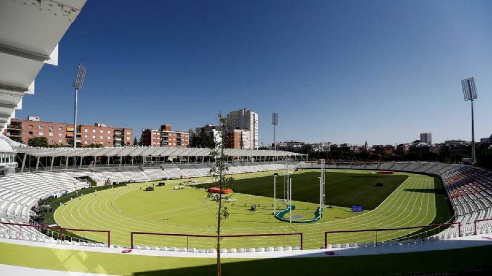 Vista del Estadio Vallehermoso en Madrid.
