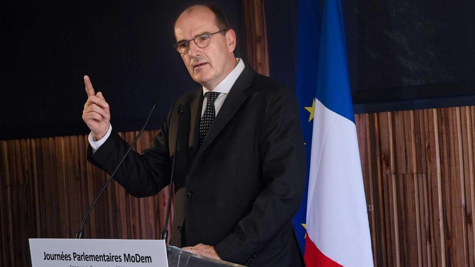 El primer ministro francés, Jean Castex, durante una rueda de prensa