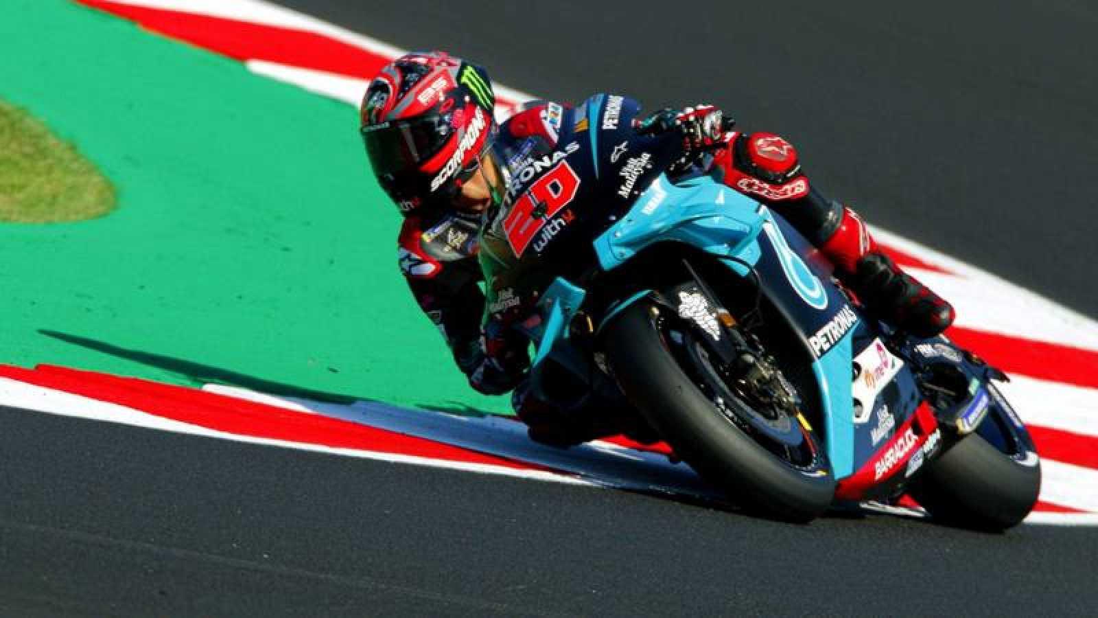 El piloto francés Fabio Quartararo durante el GP de San Marino de MotoGP.