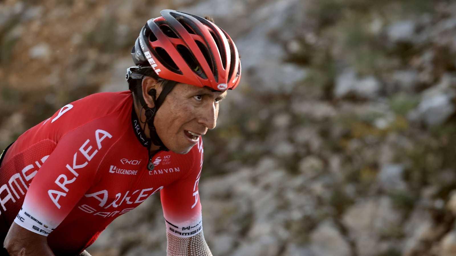 Nairo Quintana, ciclista colombiano, durante la etapa 15 del Tour de Francia 2020
