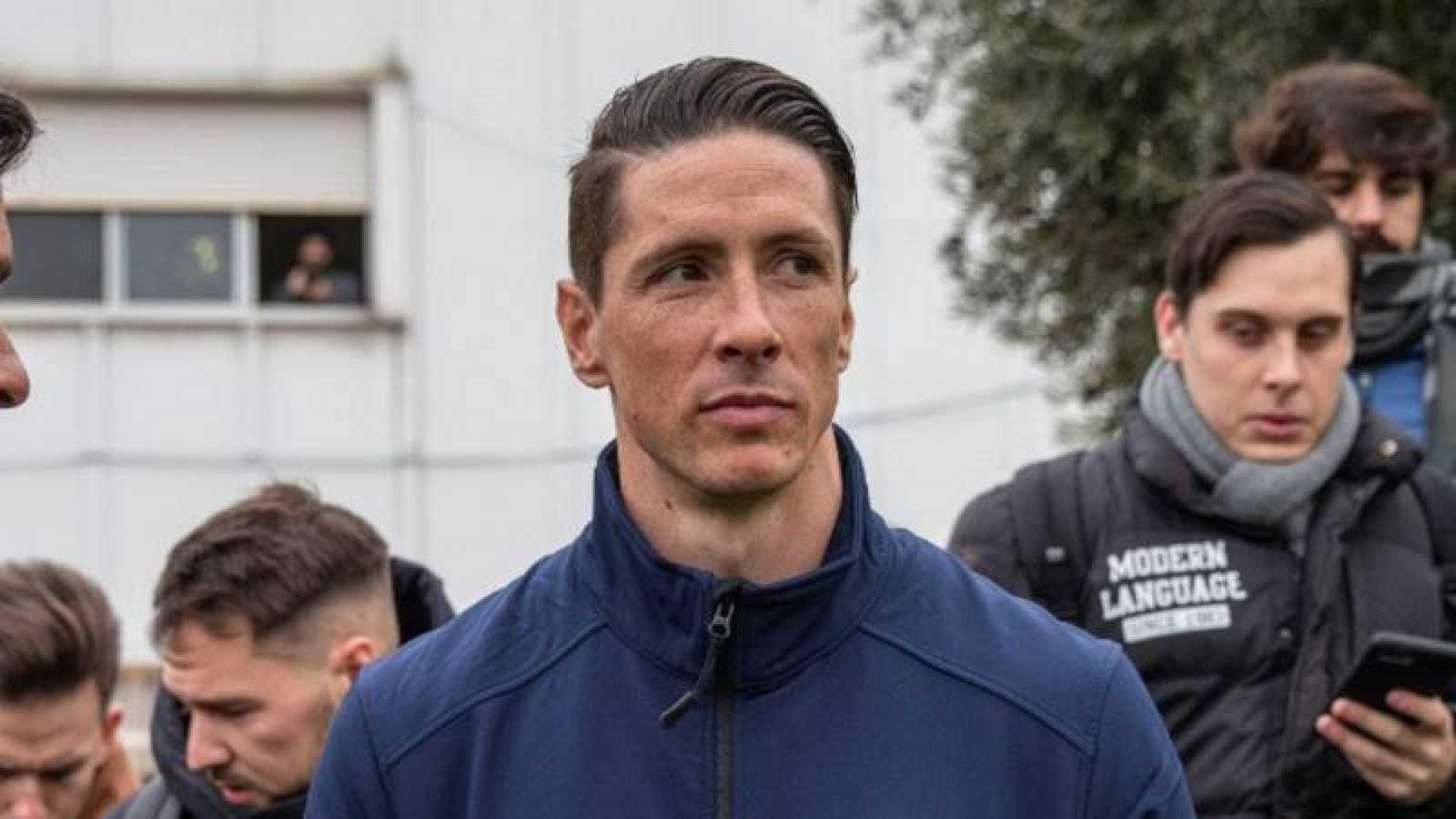 El ex futbolista Fernando Torres en una imagen de archivo durante la inauguración del campo de fútbol que lleva su nombre en 2019.
