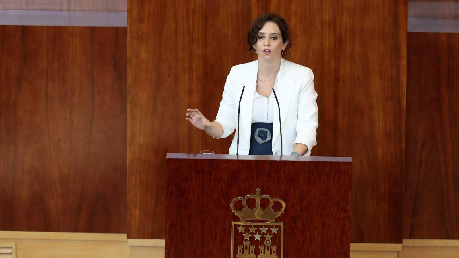 La presidenta de la Comunidad de Madrid, Isabel Díaz Ayuso