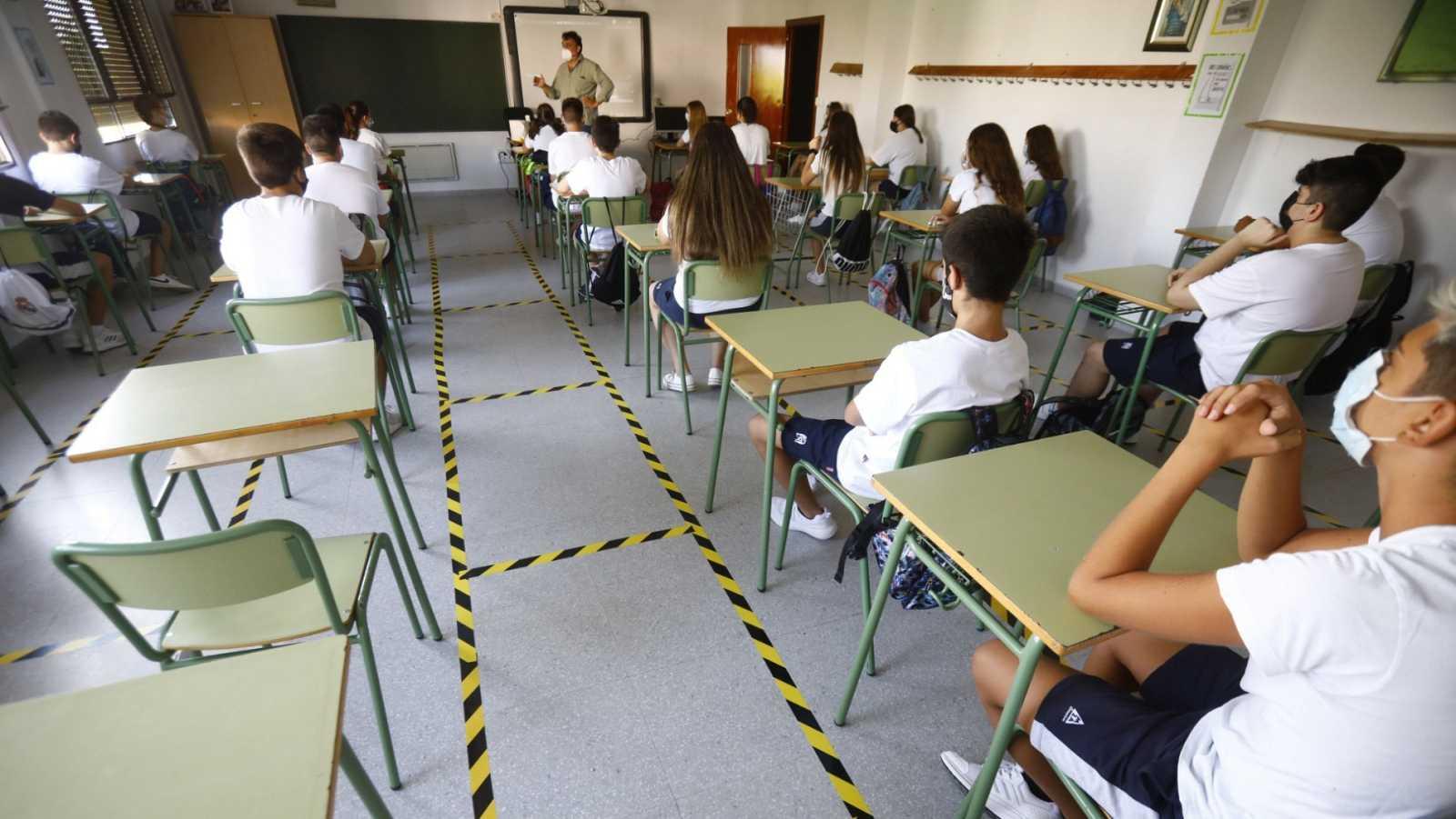 Una clase del colegio San Rafael del Obispo en Córdoba