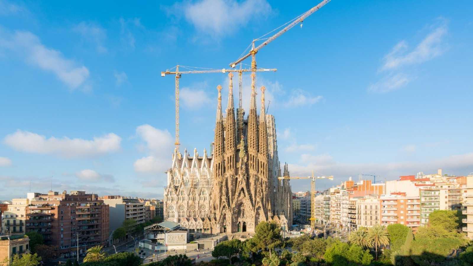 Vista aérea de la Sagrada Familia