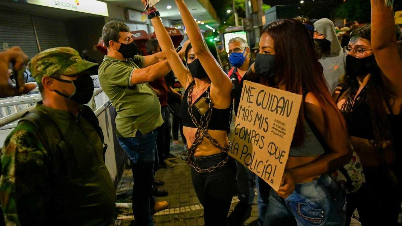 Protestas contra la brutalidad policial en Medellín, Colombia