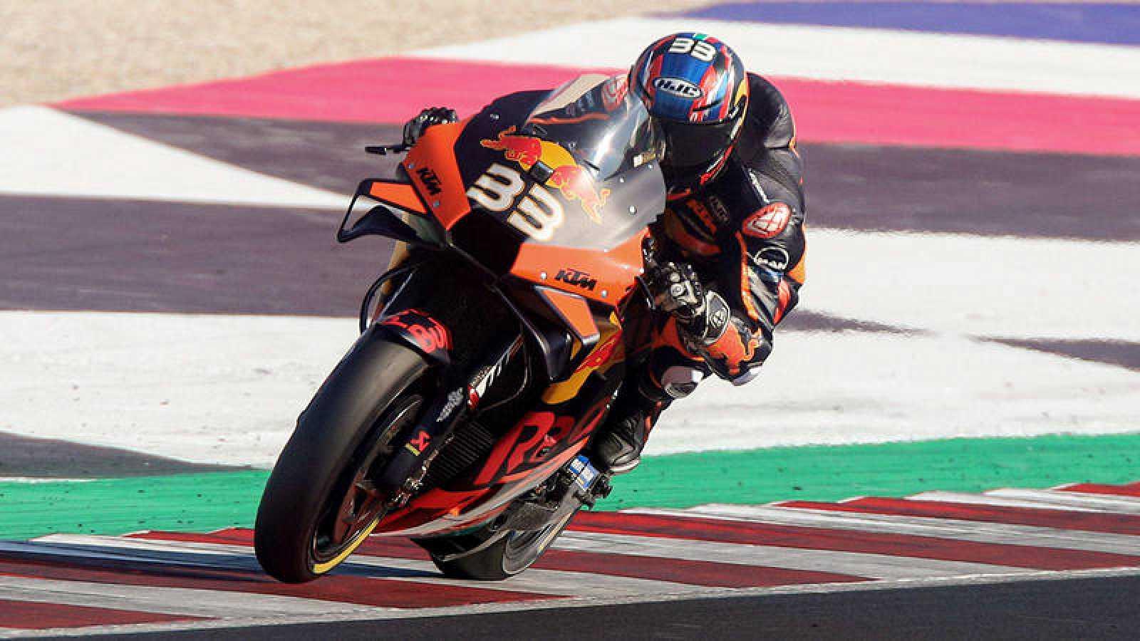 El sudafricano Brad Binder, en los entrenamientos del GP de Emilia Romagna.