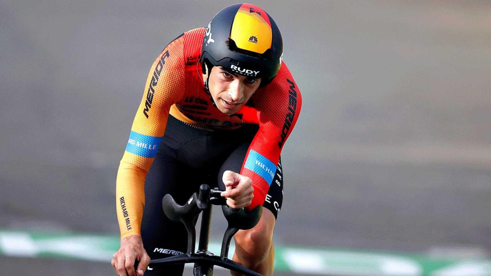 Imagen de Mikel Landa (Barhain) durante la etapa 20 del Tour de FFrancia 2020.