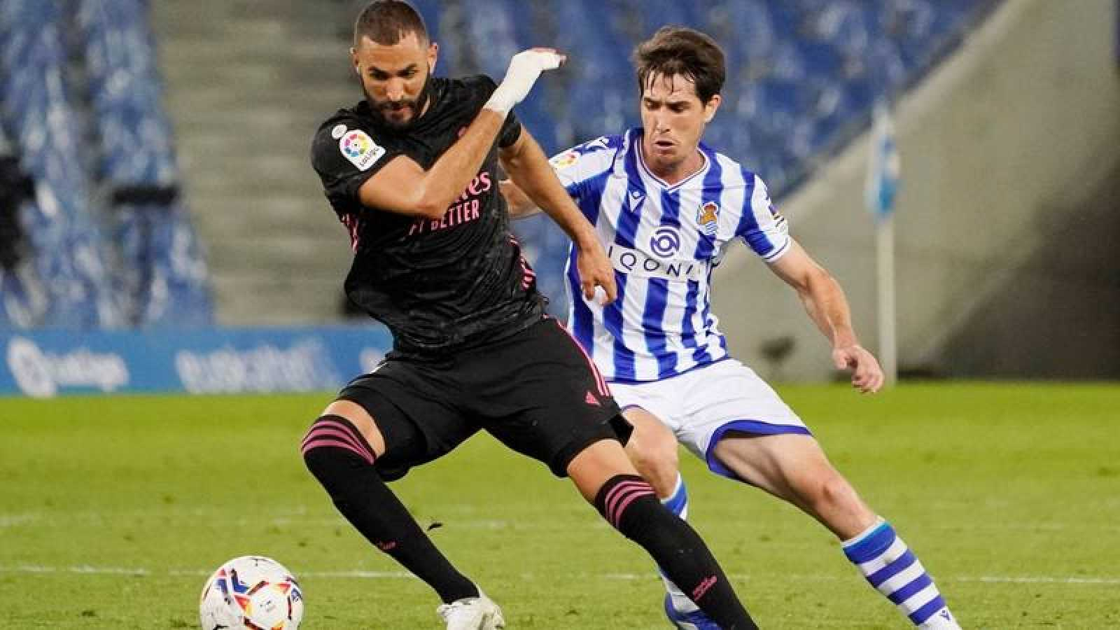 Benzema, en el partido contra la Real Sociedad.
