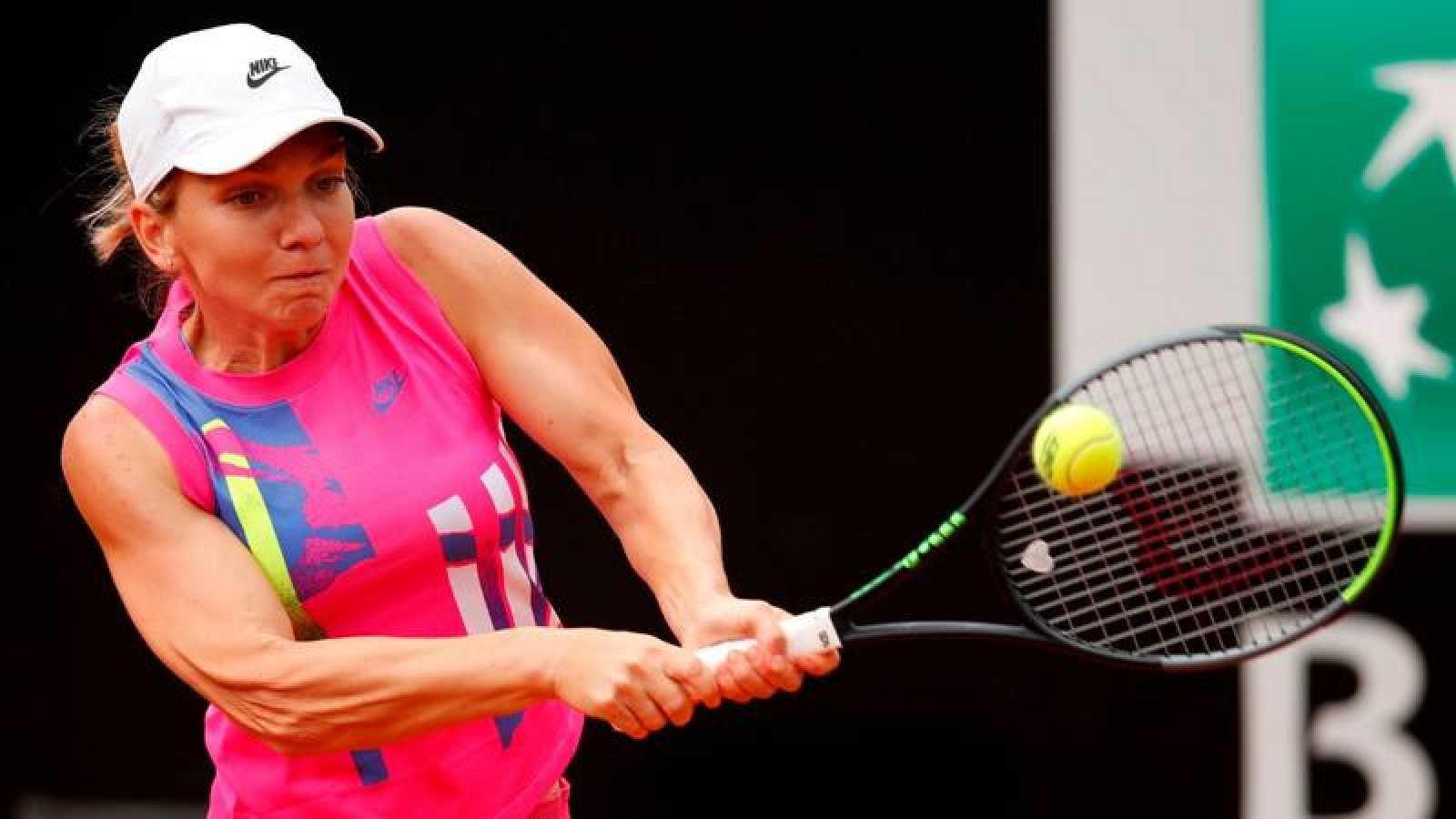 La tenista rumana Simona Halep durante la final del Abierto de Roma 2020.