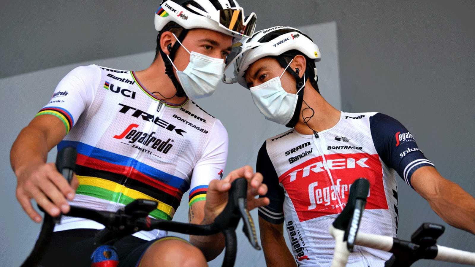 Imagen del danés Mads Pedersen, vigente campeón del mundo, durante una etapa del Tour de Francia 2020.