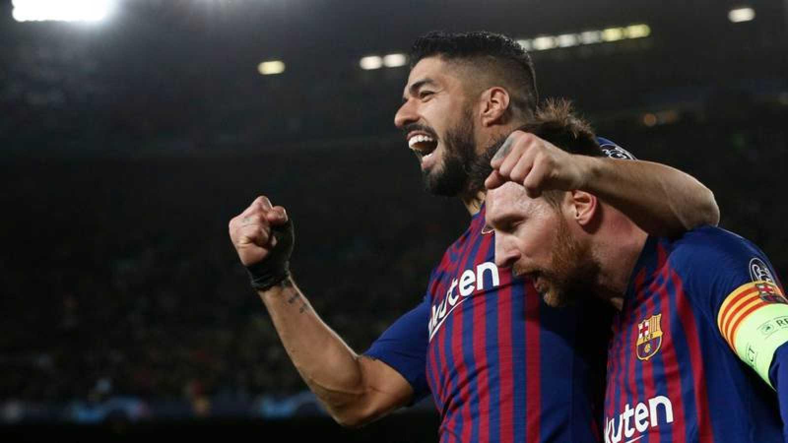 Imagen: Messi y Suárez celebran un gol