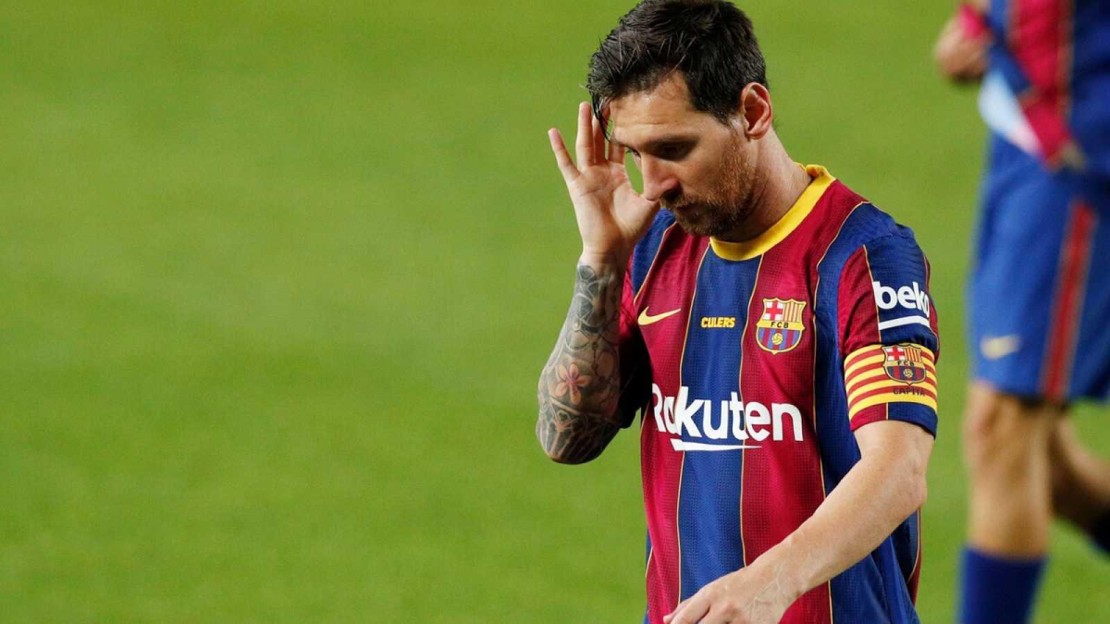 Imagen: Leo Messi, en el trofeo Joan Gamper