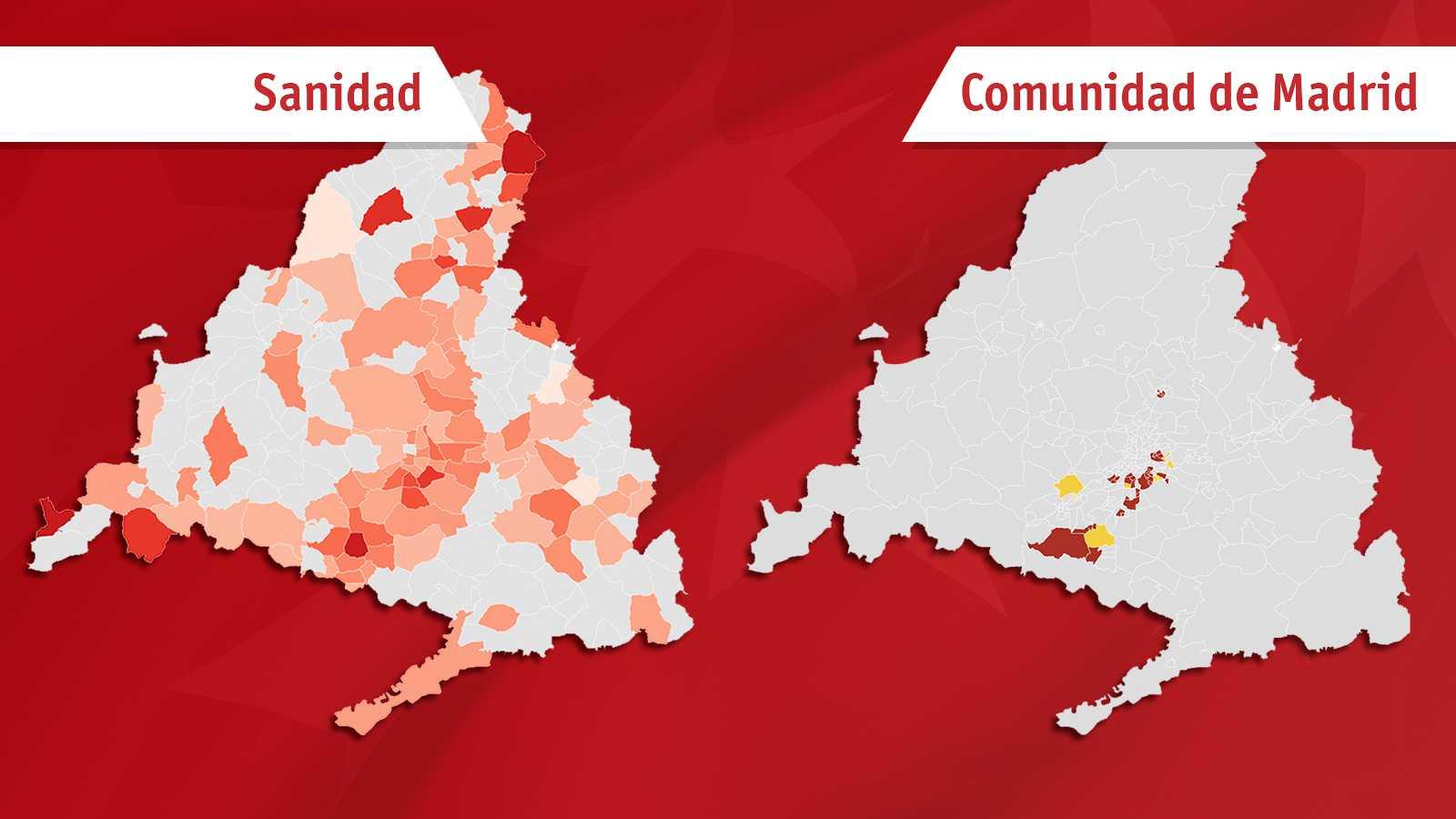 El plan de Sanidad frente al de Madrid en dos mapas