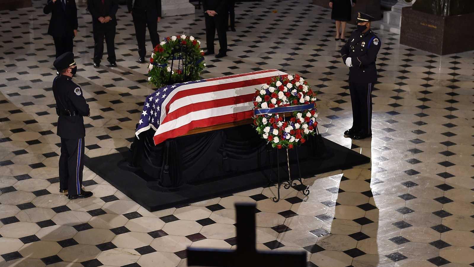 Velatorio de Estado en el Capitolio de Estados Unidos en honor a la jueza Ruth Bader Ginsburg