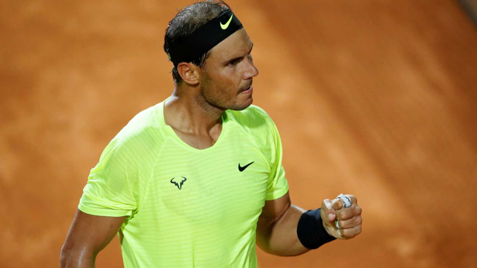 Imagen: Rafa Nadal celebra un punto en el pasado Masters 1000 de Roma